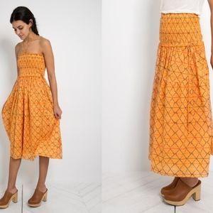Apiece Apart Nueva Nambe Dress Diamonte Print